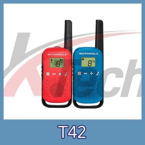 모토로라 T42 생활무전기 (1세트 2대 포함)