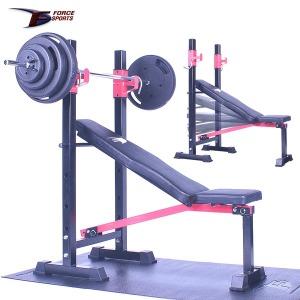 포스스포츠  포스각도벤치프레스 블랙원판10~80kg세트