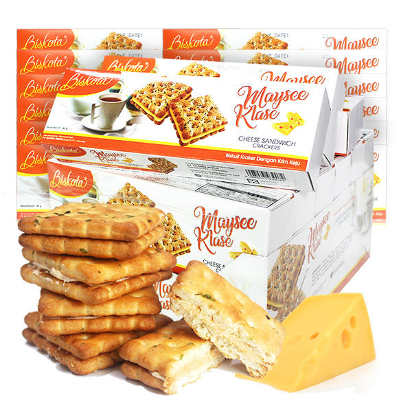 2박스(24곽)비스코타 치즈크림 샌드쿠키