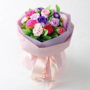 피치 비누꽃다발-중급(무료 배송) 꽃배달 꽃바구니 전