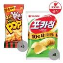 치즈뿌린 치킨팝81gX5개+포카칩 어니언x5개