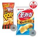 치즈뿌린 치킨팝81gX5개+포카칩x5개