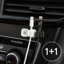 마그네틱 차량용 케이블 선정리 홀더-화이트 (1+1)