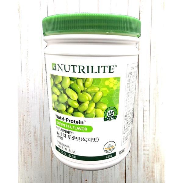 암웨이 뉴트리라이트 프로틴 녹차맛 450g/암웨이정품