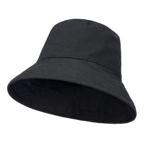 리버시블 오버핏 블랙 남녀공용 모자 벙거지 버킷햇