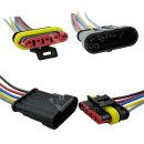 S-HC0020 5P방수 커넥터 케이블 자동차 전기 전원