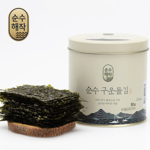 조미김/구운돌김/국내산 돌김/순수 구운돌김30g(캔)