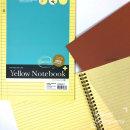 노랑내지 스프링 절취노트 절취선 (좌철) (3500)