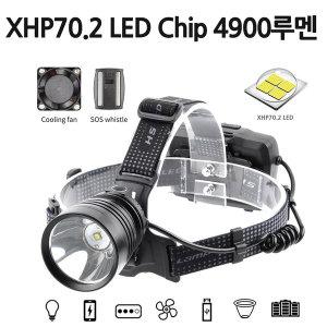 빅 LED 충전식 서치형 탐조등 헤드랜턴 P7.2칩 서치D93