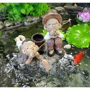 낚시 소년/ 수반 어항 장식 낚시인형 정원 인테리어