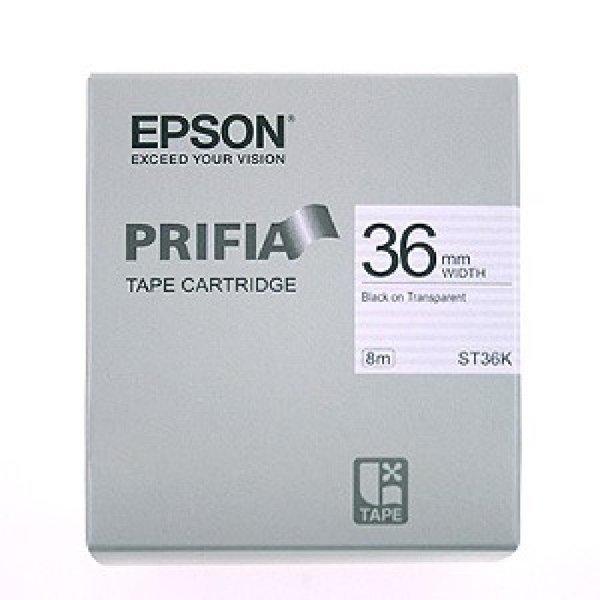 엡손 라벨 테이프 36mm ST36K 투명흑색 라벨테이프 라