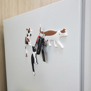 귀여운 귀요미 냥이 고양이 냉장고 자석 열쇠 고리
