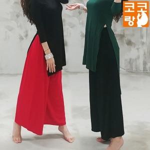 밴딩와이드 밸리 팬츠 라인 밸리복 벨리 줌바 벨리복