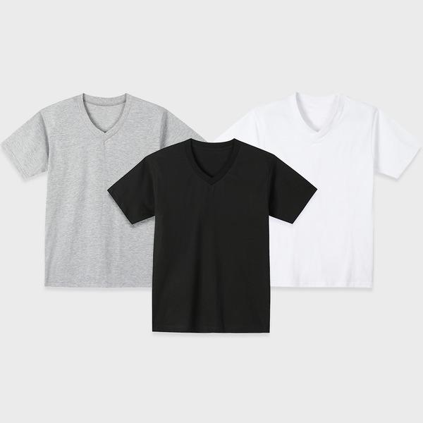 남자 브이넥반팔티 티셔츠 기본면티 V넥티셔츠