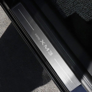 XM3 도어스커프 스탭 알루미늄 플레이트 포인트 몰딩