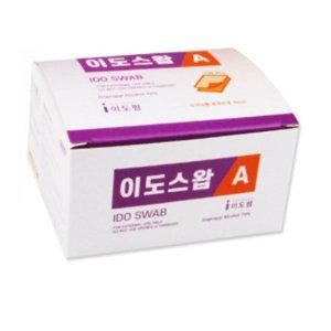 이도스왑A 알콜솜 낱개포장100매/개별포장100pcs
