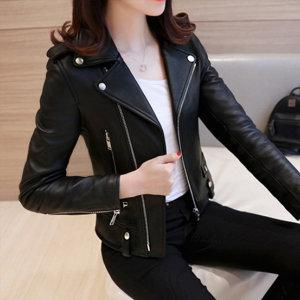 간절기 여성자켓 라이더재킷 숏 캐주얼 가죽자켓