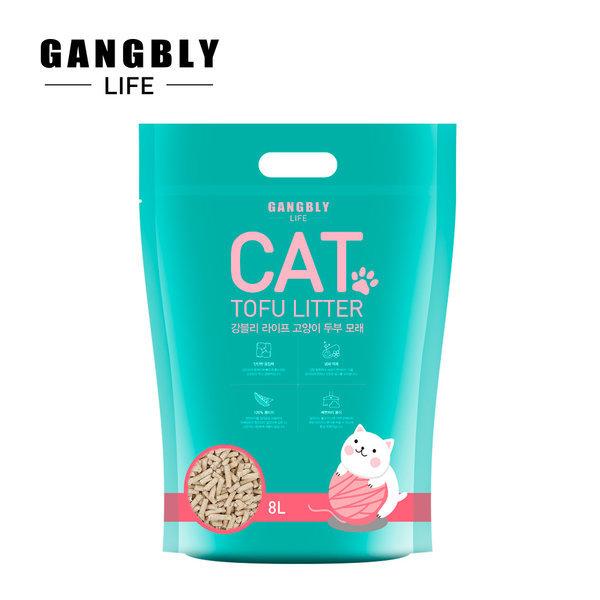 강블리라이프 고양이 두부 모래 8L x 6개 오리지널
