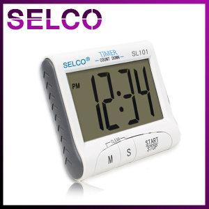 SELCO 타이머 SL101 스톱워치 시계기능 자석 탁상용