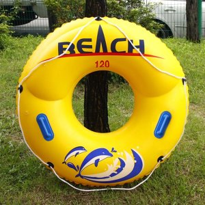 원형 손잡이튜브(노랑)(120cm) / 물놀이튜브