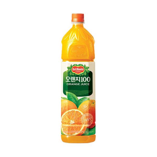 롯데칠성 델몬트 오렌지100 1.5L (12펫) 무료배송