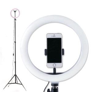1인 방송장비 LED 링미디어 (개인방송조명) (블랙)