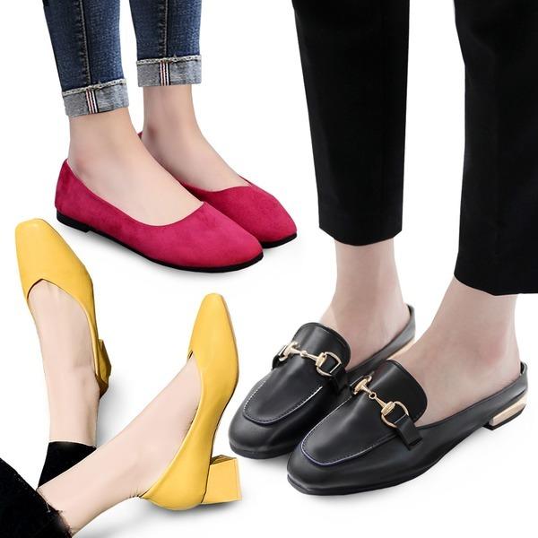 여성 플랫슈즈 뮬 로퍼 슬링백 블로퍼 단화 신발