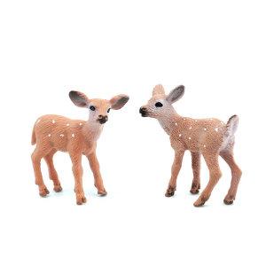 테라리움 만들기 실사동물 아기 사슴 피규어 2종 1P
