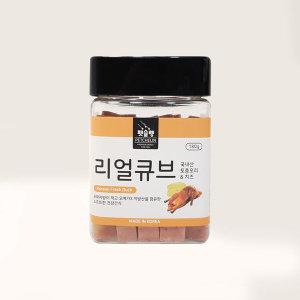 펫슐랭 리얼큐브 오리 치즈 180g 펫샵 초 인기 간식