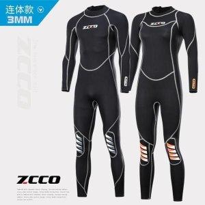 ZCCO 3mm 남녀 두꺼운 따뜻한 수영복 겨울 스노클링
