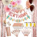 파티용품패키지 PB_로즈골드 / 해피벌스데이 생일파티
