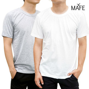 메이프  반팔 면티 베이직 라운드 면티 면 티셔츠 3장(화이트/그레이)