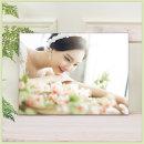 아크릴액자+사진인화 5x5(12x12cm)결혼웨딩 아기가족