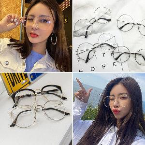 안경모음 메탈안경 투명뿔테안경 빅사이즈 패션안경