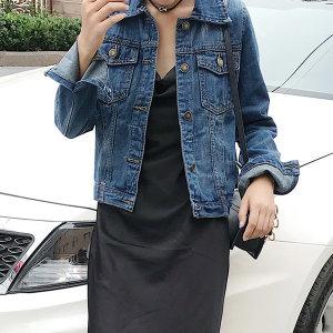 여성 베이직 슬림핏 청자켓 데님재킷 점퍼 봄신상