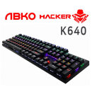 ABKO K640 게이밍 기계식 LED 키보드 블랙 청축