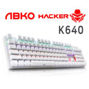 ABKO K640 게이밍 기계식 LED 키보드 화이트 청축