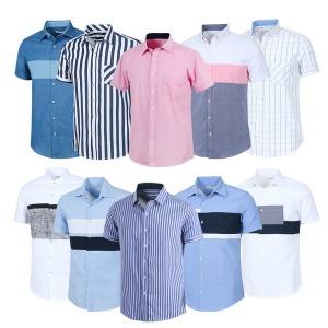 남성셔츠 반팔남방 남자차이나 카라셔츠 여름 DFST