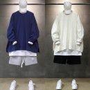 빠숑 박스오버핏 트임 맨투맨/오버핏매투맨/티셔츠
