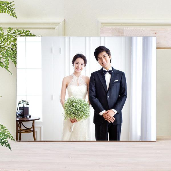 아크릴액자+사진인화 6x6(15x15cm)결혼웨딩 아기가족