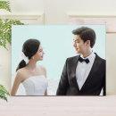아크릴액자+사진인화 8x8(20x20cm)결혼웨딩 아기가족