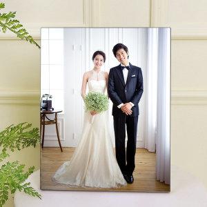 아크릴액자+사진 11x11(27x27cm)결혼웨딩 가족 돌잔치