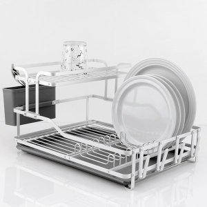 [퀸센스] 퀸센스 심플 알루미늄 2단 식기건조대