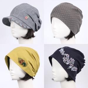 봄 여름 얇은 비니 모자 머리두건 여성 중년 면 항암