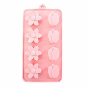 벚꽃 튤립 8구 실리콘 몰드 비누 원료 석고 방향제