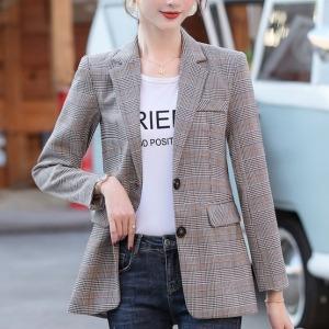 여성자켓 심플 체크 아우터 여자정장 가을신상 재킷