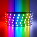 12V 고급 5050 3칩 LED바 검띠 RGB 10cm당 연결발송