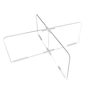 투명 칸막이 가림막 4인용 식당 투명 3T 방탄아크릴