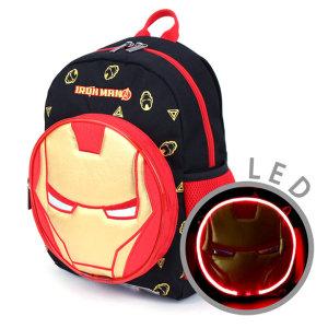 아이언맨 페이스 LED 백팩 초등학생 남아 아동 책가방