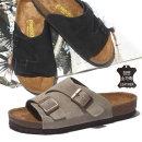 남성 여성 스웨이드 가죽 샌들 커플 여름 신발 타우페